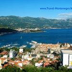 Бухта города Будва в Черногории