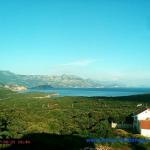 Побережье Адриатического моря с поселка Кримовица в Черногории