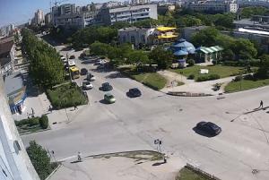 Перекресток проспекта Победы и улицы Интернациональная в Евпатории