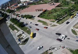 Перекресток проспекта Победы и улицы 9 Мая в Евпатории в Крыму