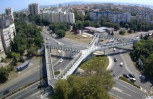 Площадь Трапезица в городе Бургас в Болгарии
