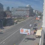 Перекресток Красного проспекта и улицы Вокзальная магистраль в Новосибирске