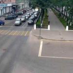 Перекресток Комсомольского проспекта и улицы Пушкина в Перми