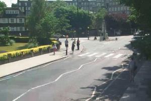 Улица Эбби-Роуд в Лондоне в Великобритании