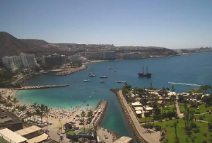 Панорама курортов Анфи-дель-Мар и Паталавака