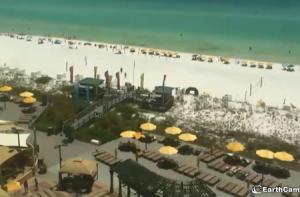 Пляж в Дестин из отеля Hilton Sandestin Beach Golf Resort в штате Флорида