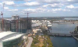 Панорама города Тампа в штате Флорида