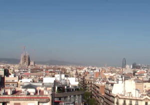 Панорама Барселоны из отеля Majestic Hotel & Spa Barcelona GL