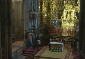 Алтарь Собора Святого Иакова в Сантьяго-де-Компостела в Испании