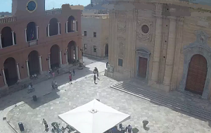 Площадь Пьяцца-делла-Репубблика в Марсала на Сицилии
