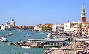 Бухта Сан-Марко в Венеции в Италии