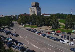 Петровская площадь в Нарве в Эстонии