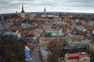 Панорама Таллина в Эстонии