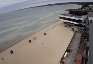 Пляж Пирита в Таллине в Эстонии
