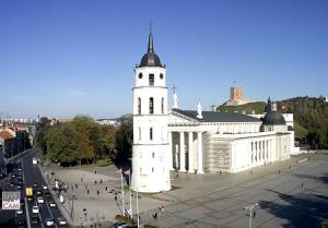 Кафедральная площадь в Вильнюсе в Литве