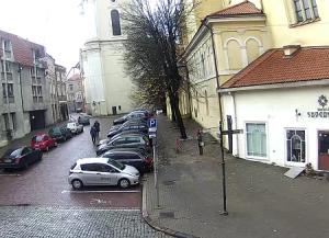 Улица Швянто Йоно в Вильнюсе в Литве