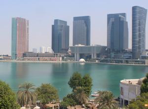 Панорама Абу-Даби из отеля Le Meridien Abu Dhabi