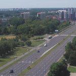 Улица Московская в Бресте в Белоруссии