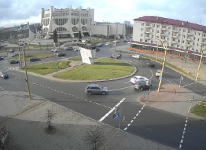 Советская площадь в Гродно в Белоруссии