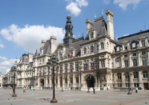Отель-де-Виль в Париже во Франции