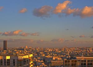 Башня Монпарнас и центр Парижа