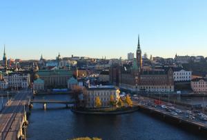 Панорама Стокгольма из отеля Sheraton