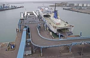 Морской порт Треллеборг в Швеции