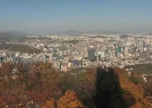 Панорама Сеула в Южной Кореи