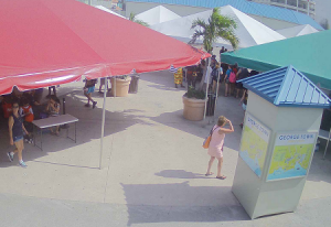 Зона ожидания для пассажиров в морском порту Джорджтауна
