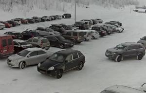 Парковка горнолыжного курорта Большой Вудъявр