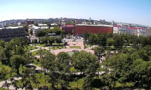 Сквер имени Кирова в Иркутске