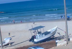 Пляж в Нетания в Израиле