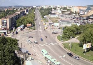 Пересечение проспекта Автозаводцев с улицей Лихачёва в Миассе