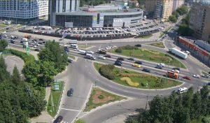 Пересечение улицы Каргина и Олимпийского проспекта в городе Мытищи