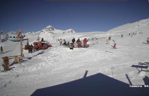 Учебный склон Айсберг на горнолыжном курорте Домбай