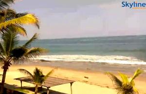Пляж Лас-Поситас в Манкора в Перу