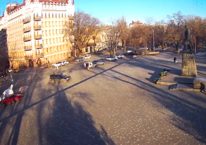 Памятник Тарасу Шевченко в Одессе на Украине