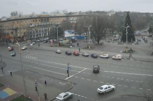 Фонтан Жизни на площади Маяковского в Запорожье на Украине