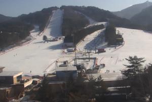Панорама горнолыжного курорта Ёнпхён в Пхёнчхане