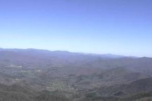 Вид с горы Брасстаун Болд в штате Джорджия