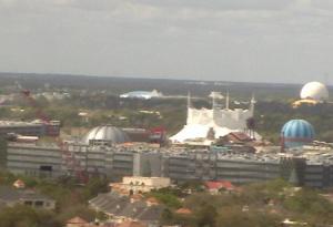Центр Диснейленда в городе Анахайм