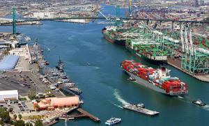 Морской порт Лос-Анджелеса в Калифорнии