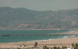 Побережье Тихого океана из Плайя дель Рей в Лос-Анджелесе