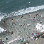 Пляж Чайка в Адлере из отеля Фламинго