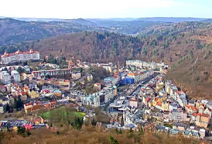 Панорама города Карловы Вары в Чехии