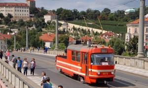 Прага с крыши трамвая