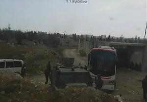 Вывод боевиков из Восточной Гуты в Сирии