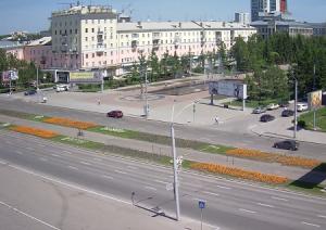 Проспект Ленина в центре Барнаула