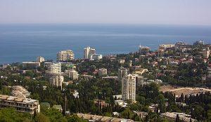 Панорама города Ялта в Крыму