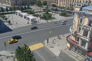 Триумфальная площадь и Маяковский тоннель в Москве